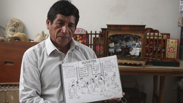 In a new book, a Peruvian artist publishes 100 drawings documenting the country's COVID-19 crisis-Art-and-culture News , Firstpost