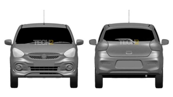 The 2021 Maruti Suzuki Celerio will sport sweptback headlights and a small mesh grille.