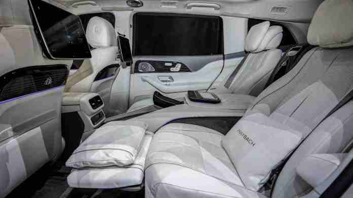 Individual rear seats cost Rs 8 lakh, while rear entertainment screens are priced at Rs 5.10 lakh. Image: Mercedes-Benz