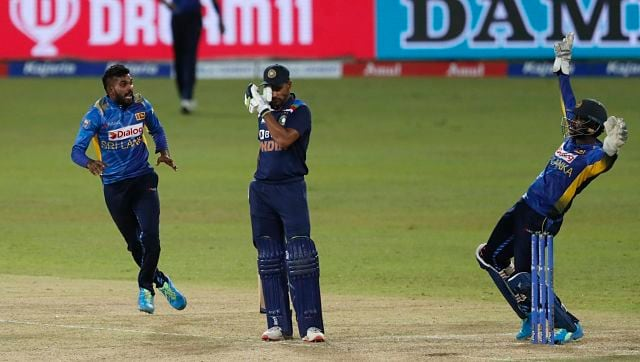 Prithvi Shaw got out early on in the innings and from thereon India struggled to find partnerships. Dhawan got out to Hasaranga (3 for 37), who was the pick of the bowlers for Sri Lanka. AP