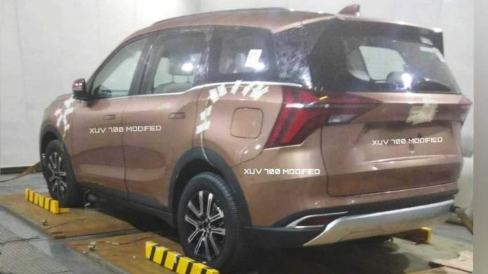 The Mahindra XUV700 is expected to debut sometime in August. Image: XUV700 Modified via Instagram