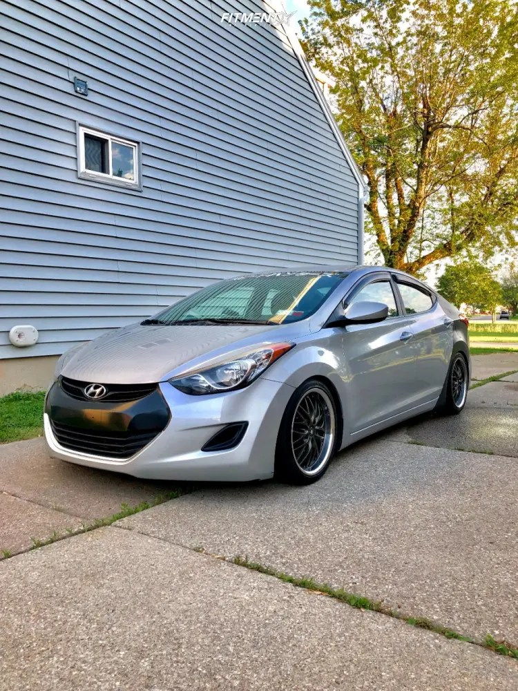 2013 Hyundai Elantra Rims : hyundai, elantra, Hyundai, Elantra, 17x7.5, HS-169, Nitto, 215x40, Coilovers, 725031, Fitment, Industries