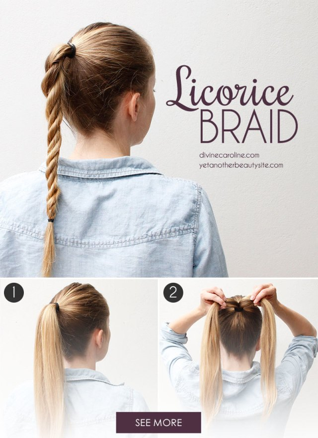 the licorice braid: the perfect twist on the ponytail
