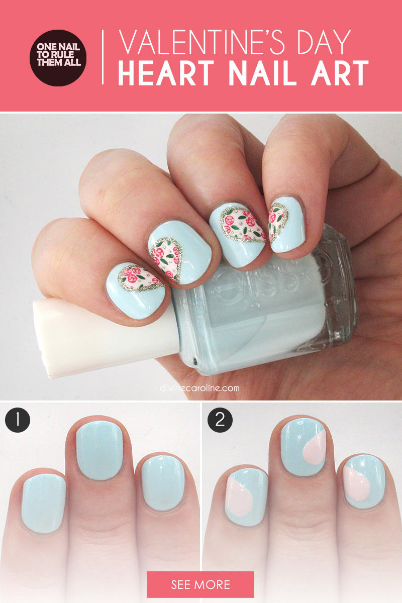 perfect valentine's day nail