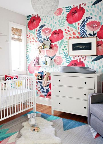 Accent Trend Crimson Poppy Mural Nursery