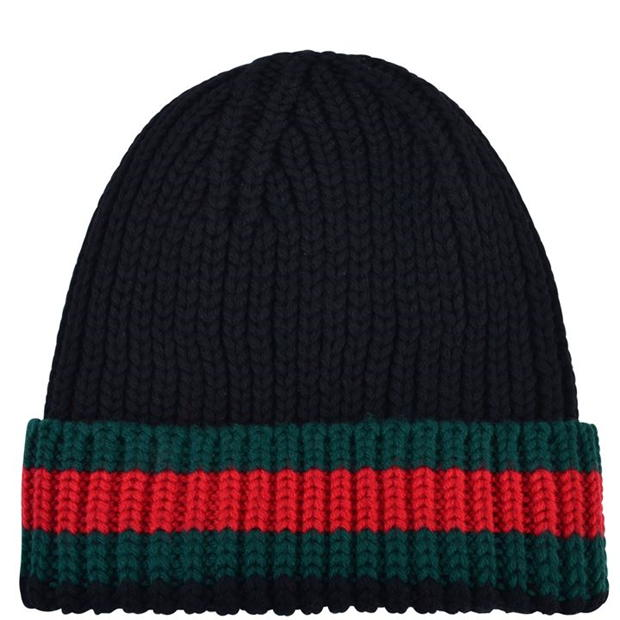 Gucci  Web Trim Beanie Hat