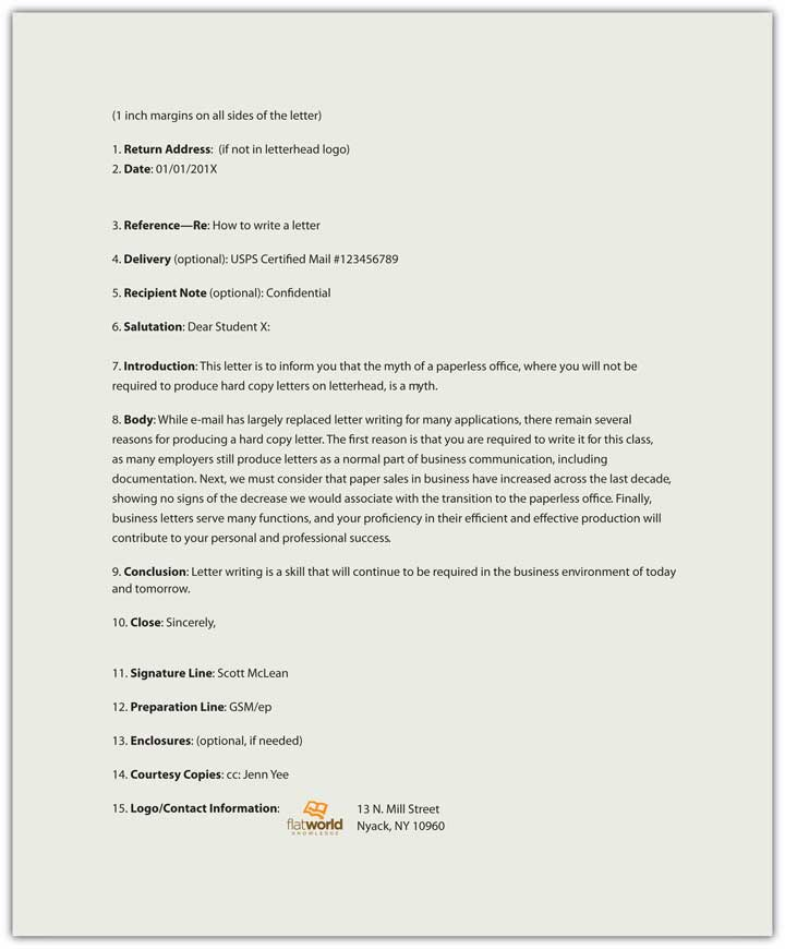 Sample Business Letter Format With Two Signatures