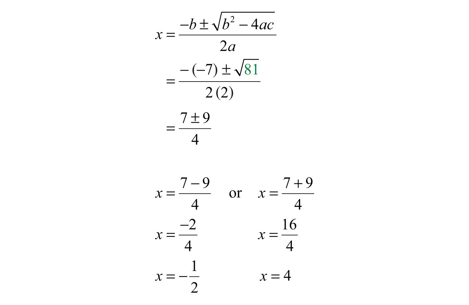 Solving Quadratic Equations Using The Formula Questions