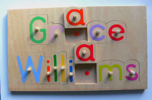 personalised wooden name jigsaw