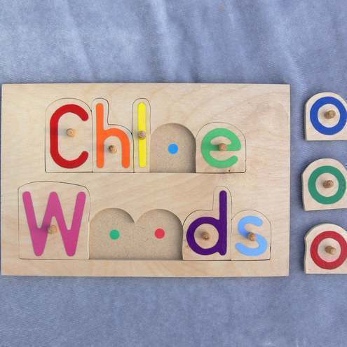 qty 4 personalised wooden