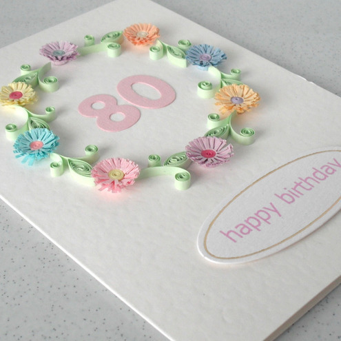 80th Birthday Card Folksy