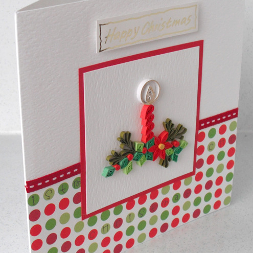 Christmas Card Paper Quilling Folksy