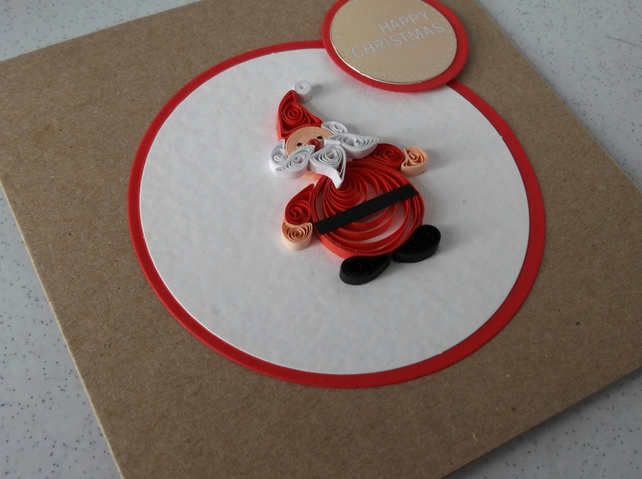 Quilled Christmas Card Paper Quilling Santa Folksy