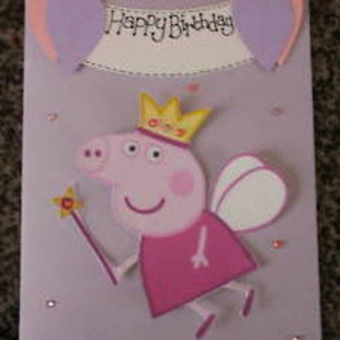 Handmade Personalised Peppa Pig 3D Birthday Card Folksy