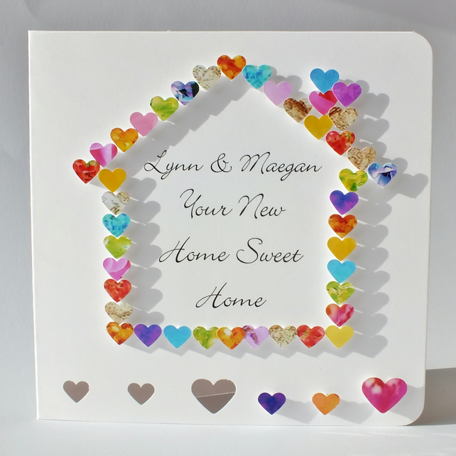 Handmade 3D New Home Card Personalised Welcome Folksy
