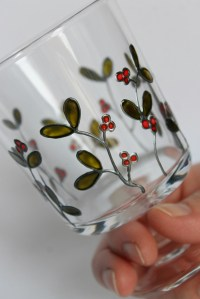 Glass Tea Light Holder, Hand painted, Christmas...