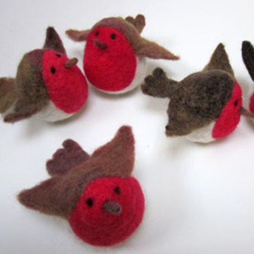Needle Felted Christmas Robin Folksy