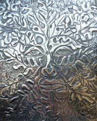 Green Man Pewter wall art - Folksy