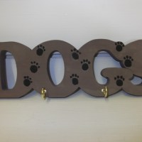 'Dogs' Lead and collar holder - Folksy