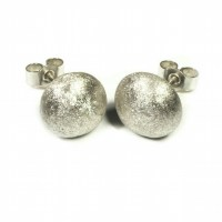 Sterling Silver Glitter Stud Earrings