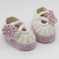 Free Hand Knitted Baby Booties Pattern