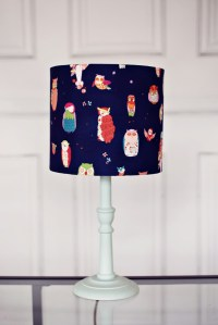 Navy blue lamp, navy lamp shade, lampshade, lam...