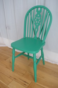 Fun & Funky Hand Painted Wooden Chair - Folksy