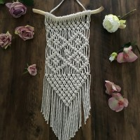 Diamond Cross Design Unique Macrame Wall Hanging - Folksy