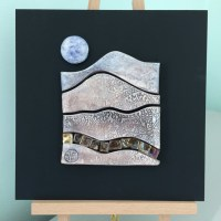 Ceramic wall art Autumn landscape - Handmade tile - Folksy