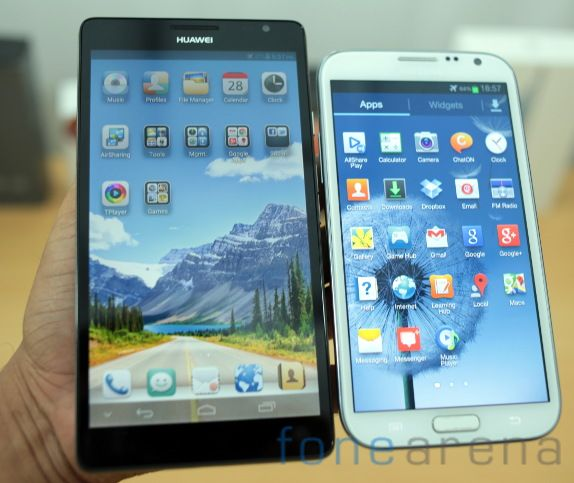 Huawei Ascend Mate vs Samsung Galaxy Note II-3