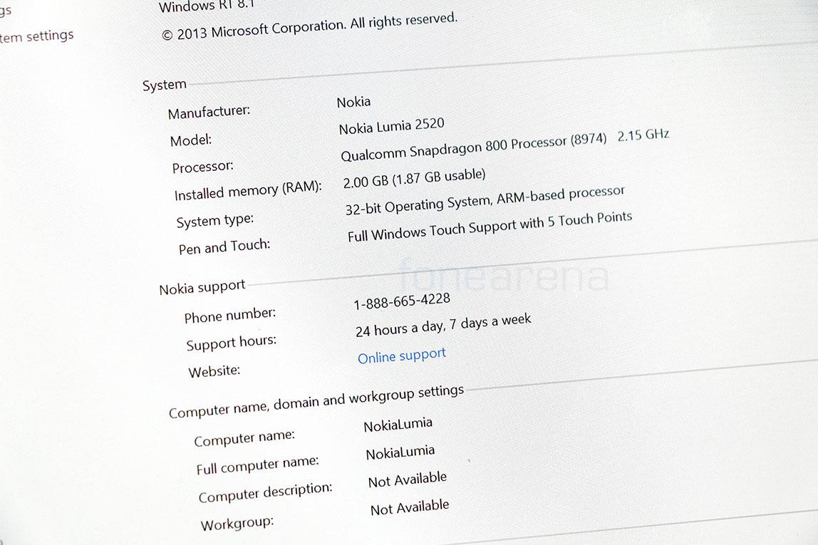 Nokia Lumia 2520 Photo Gallery