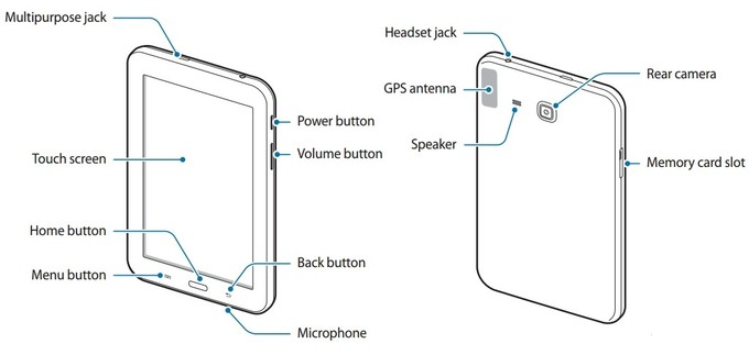 Samsung Galaxy Tab 3 Lite SM-T110 User manual leaks out