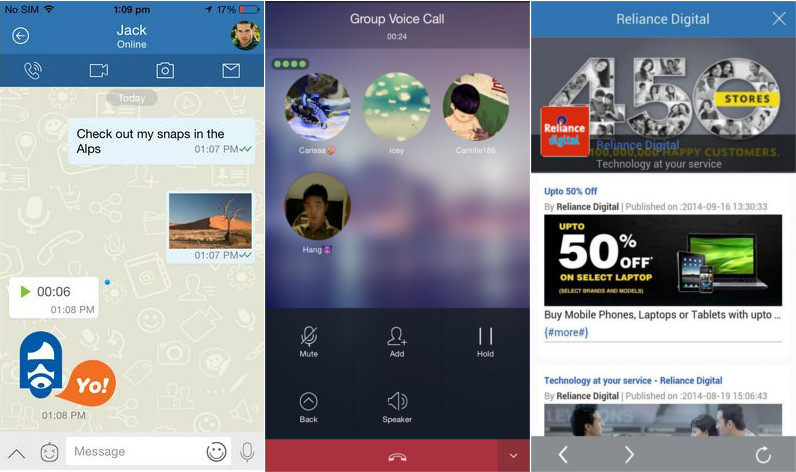 Jio Chat for Android and iPhone