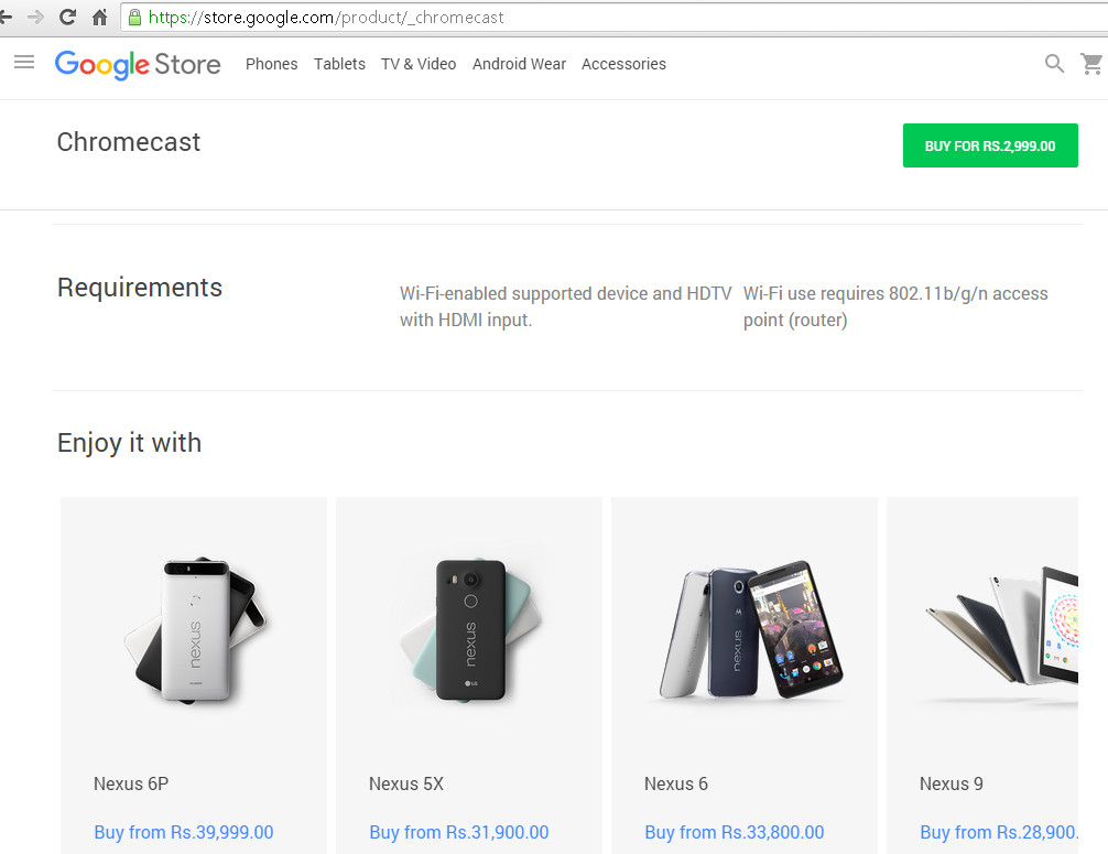 Google Store might have revealed Nexus 6P and Nexus 5X