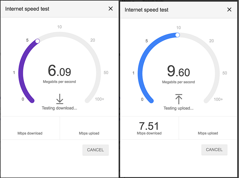 Google starts rolling out internet speed test into search