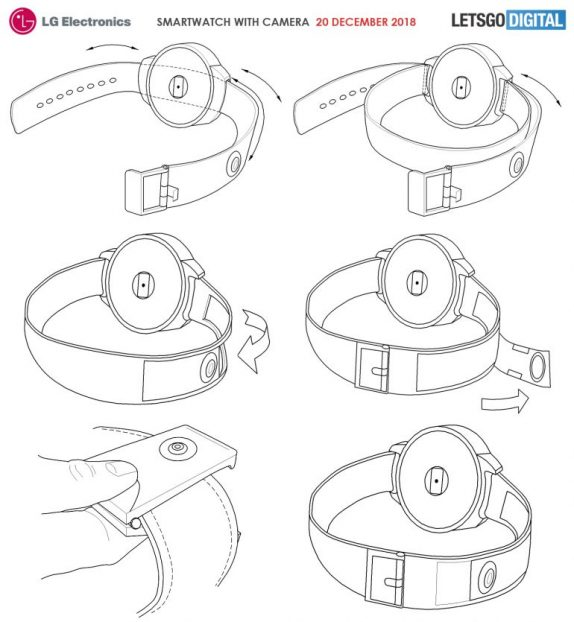 LG patents hint at a smartwatch with built-in camera