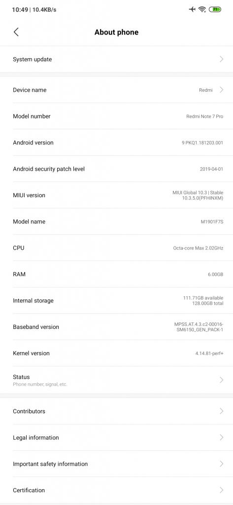 Xiaomi Redmi Note 7 Pro MIUI Software Update Tracker