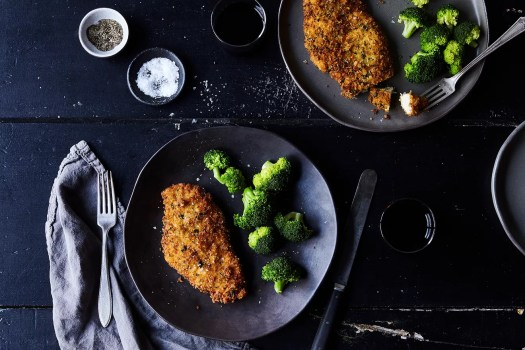 panko and parmesan breaded chicken cutlets