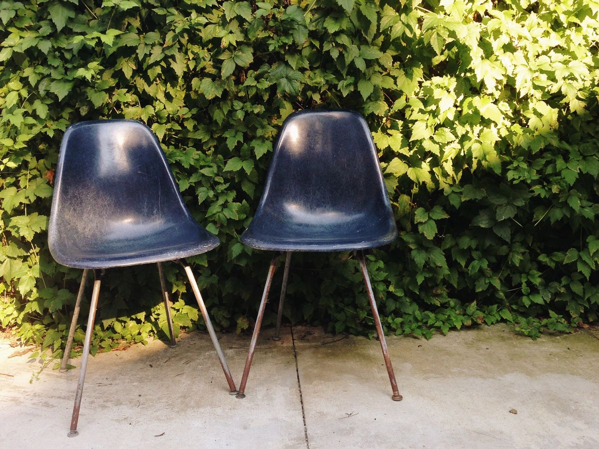 Eames Chair Repair How To Restore Eames Molded Fiberglass Side Chairs