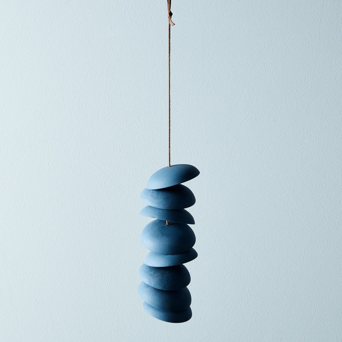 Blue Porcelain Wind Chimes - 8 Discs