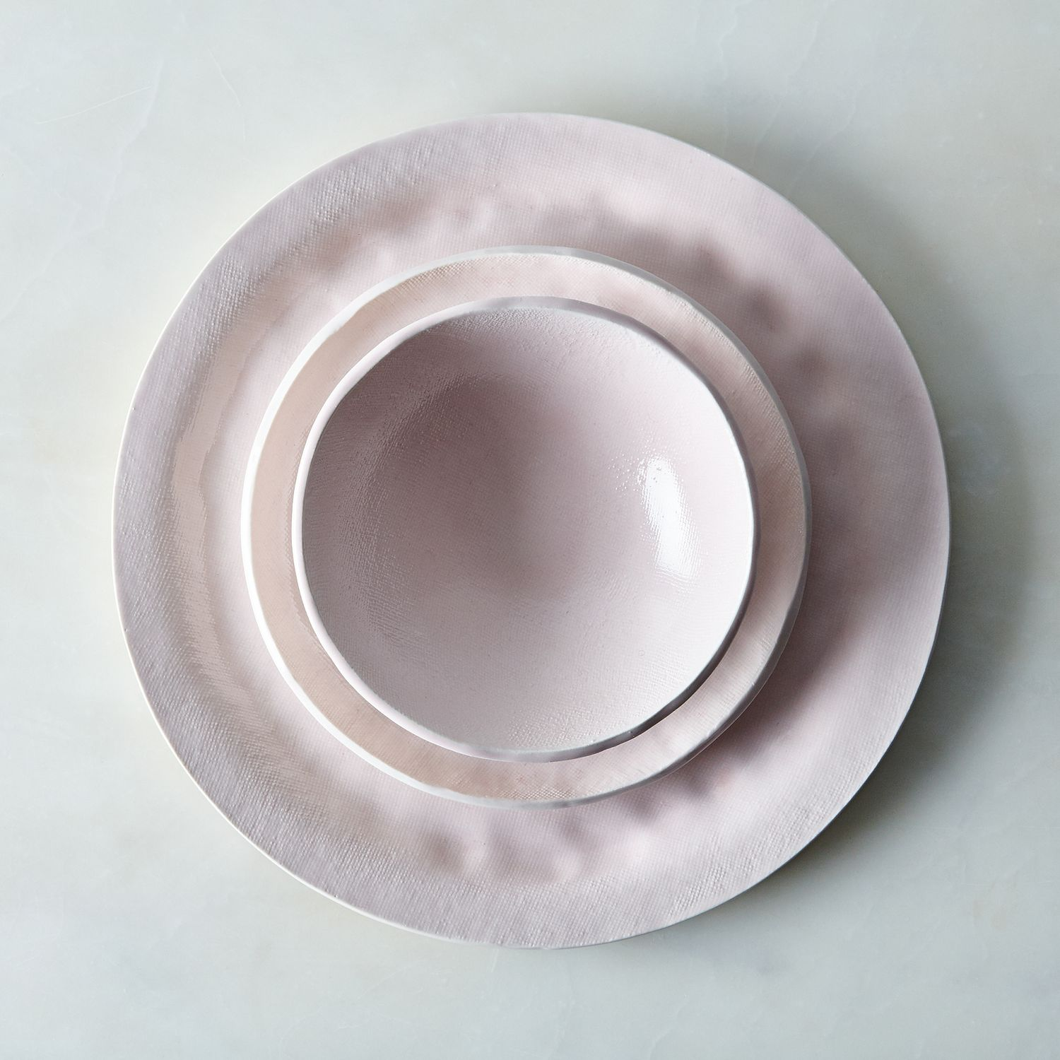 how to set up a kitchen pantry digital timer food52 pink textured porcelain dinnerware set, by looks ...