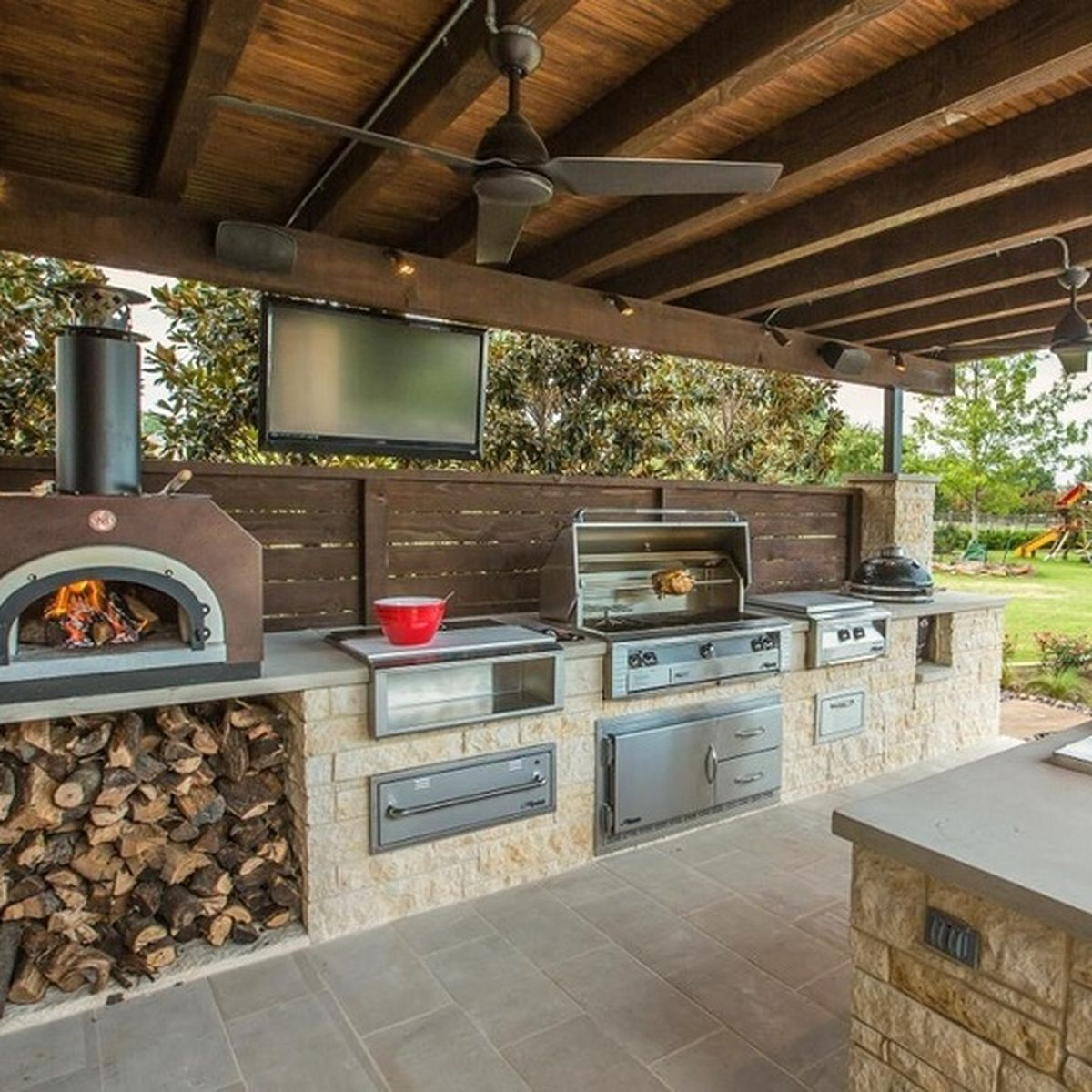 outdoor kitchens aunt jemima kitchen curtains 13 backyard that make us want to live outside