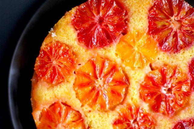 Blood Orange Cornmeal Cake
