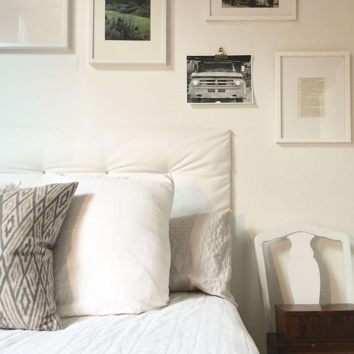 diy tufted headboard is the big pillow