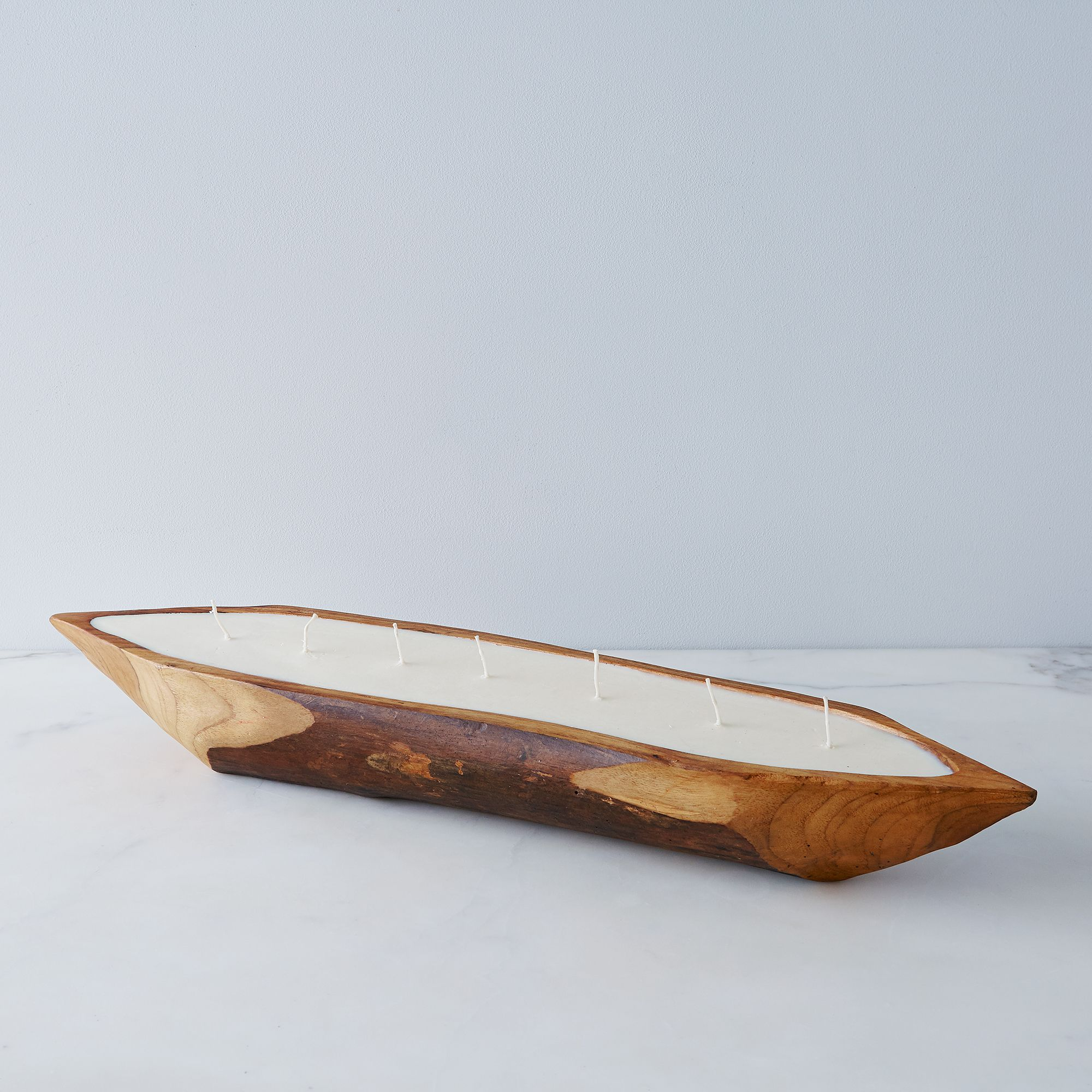 Large Teak Boat Candle