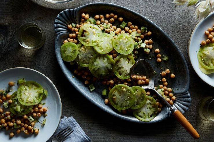 Chickpea and Green Tomato Salad