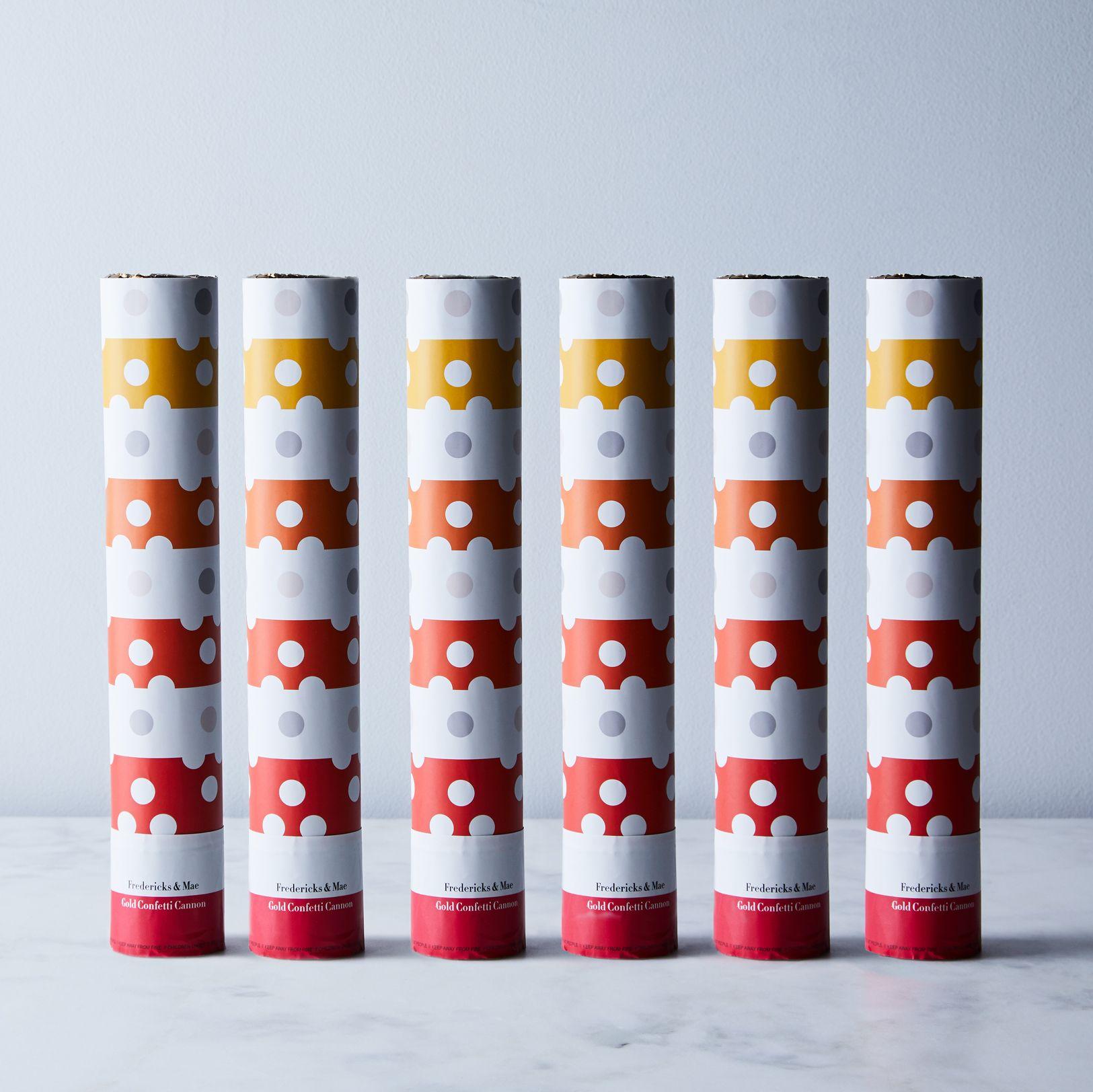 Metallic Confetti Cannon (Set of 6) - Gold