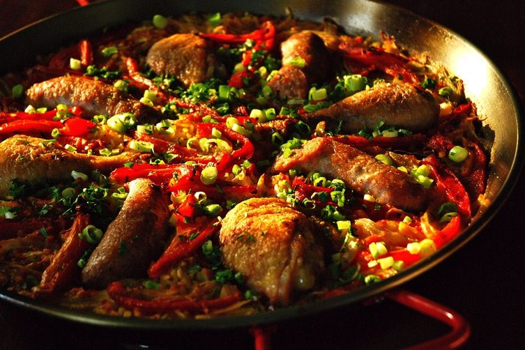 Chicken Sausage and Red Pepper Paella Recipe on Food52