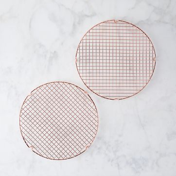 nordic ware copper plated cooling grids set of 2