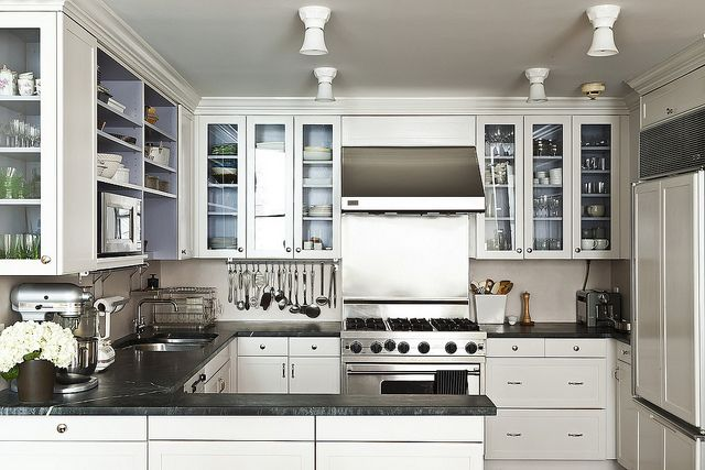 renovated kitchen white cabinets glass doors renovating the food52